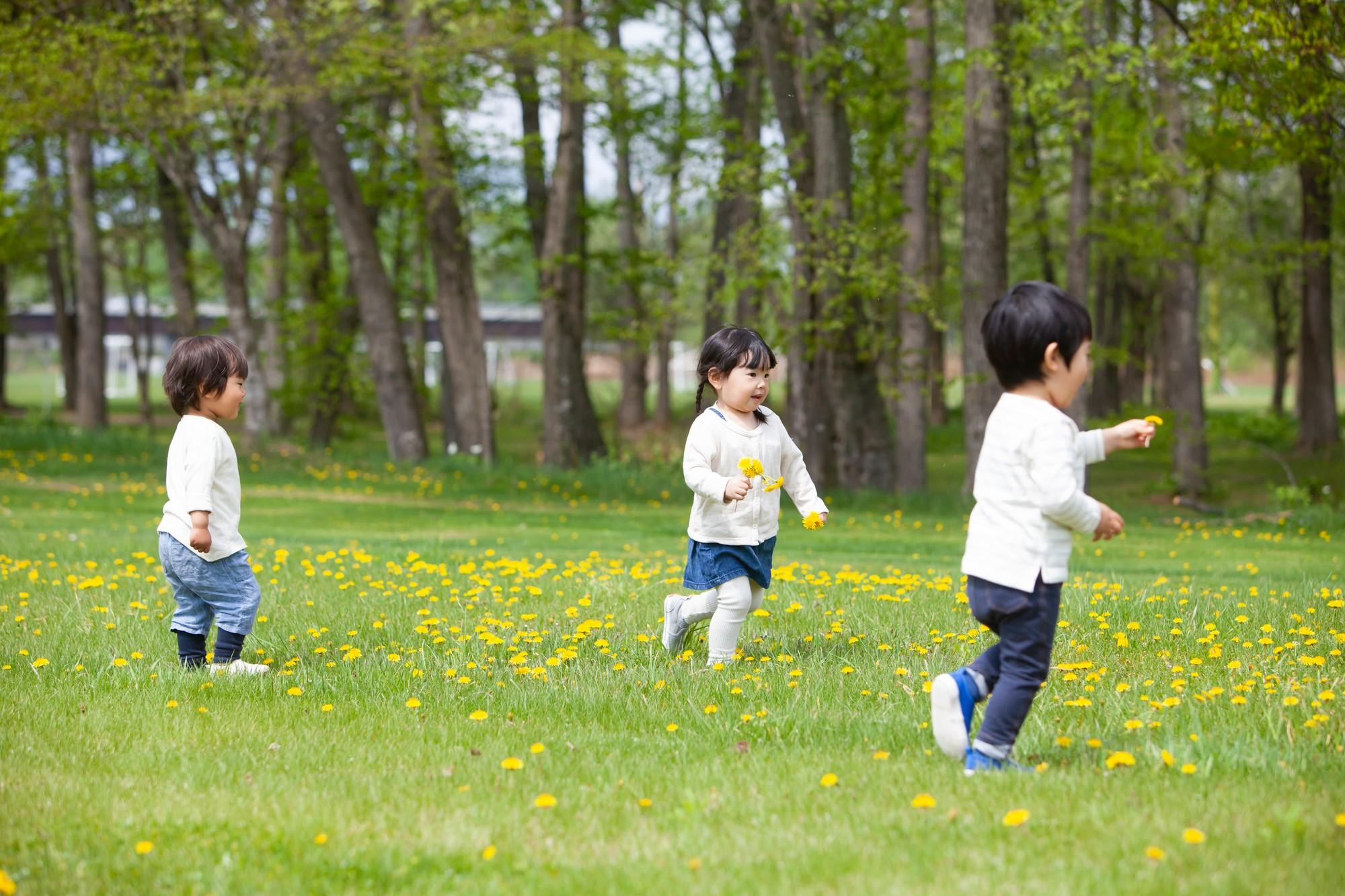 子供が遊んでいる写真です。
